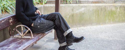 SASSAFRAS / BOTANICAL SCOUT PANTS – BLACK DENIM