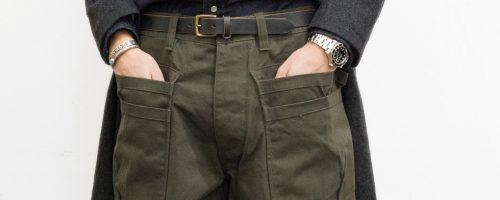 SASSAFRAS / WHOLE HOLE PANTS – OLIVE DUCK