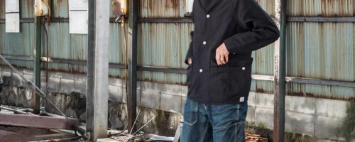 SASSAFRAS / WHOLE HOLE JACKET – BLACK OXFORD