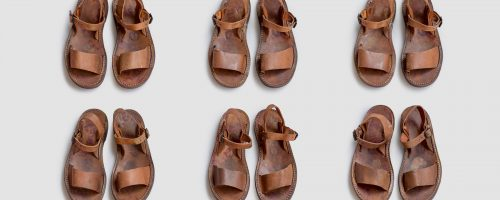 VINTAGE / 1950's FRENCH MILITARY DESERT SANDALS – DEAD STOCK